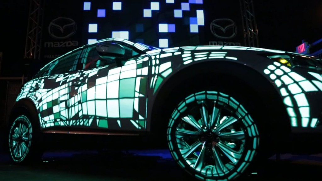 Mazda Projection Mapping at the 2016 SXSW Music Festival