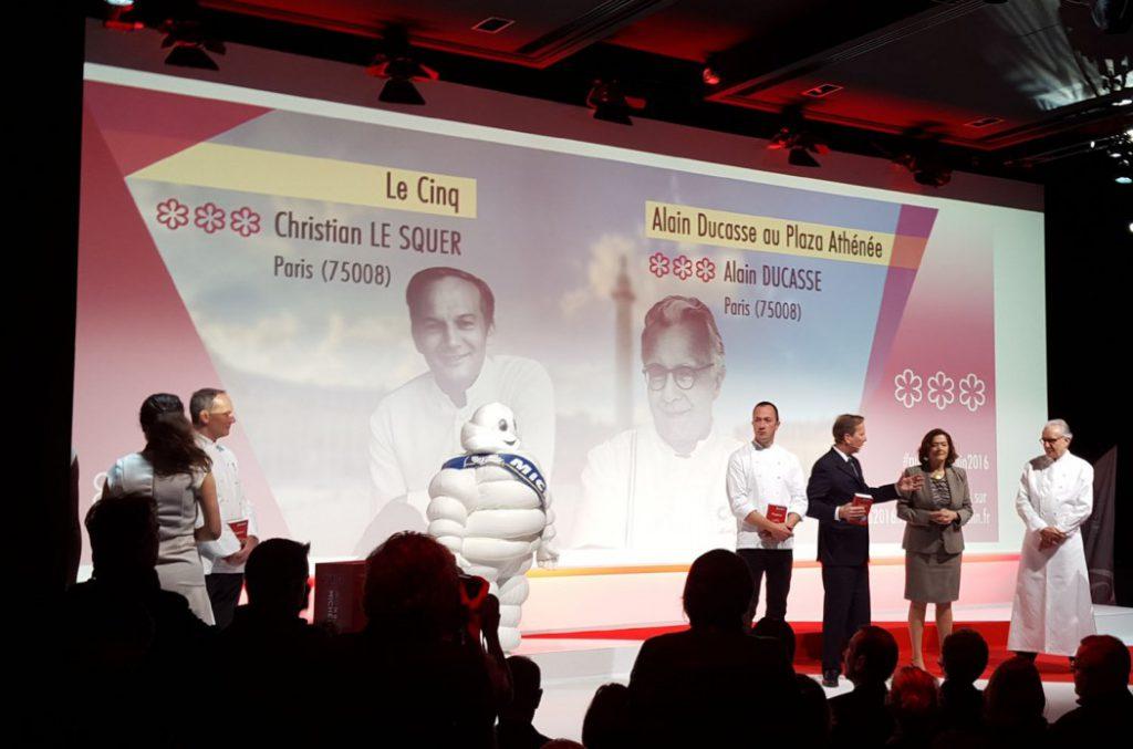 L:ED a été associé à la scénographie de la soirée de lancement du guide Michelin 2016