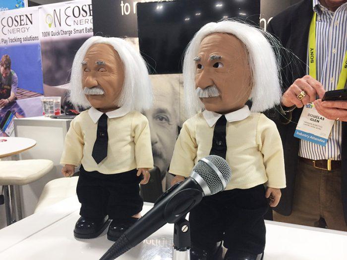 Le robot Professeur Einstein de Hanson Robotics